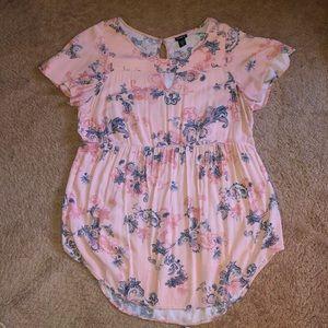 Torrid Flutter Sleeve Babydoll Tunic Size 2